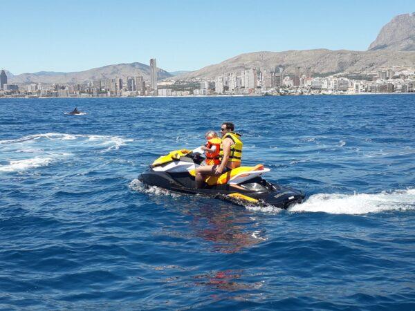 Excursión moto acuática Benidorm